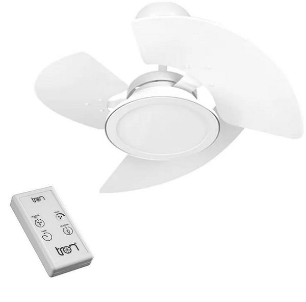 Ventilador De Teto com Controle Remoto Tron Aventador LED Branco 127V