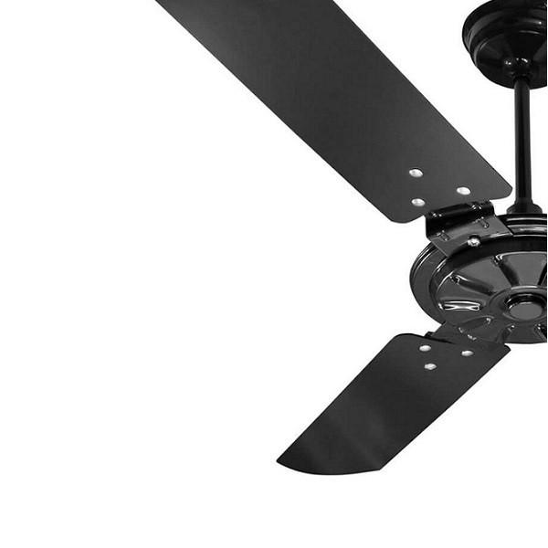 Ventilador De Teto Comercial 150w e 180w Preto Pás Pretas Ventex