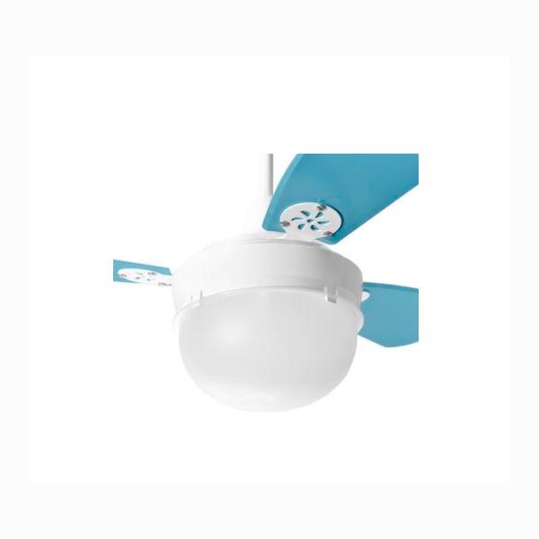Ventilador de Teto Infantil Platun Branco Loren Sid Pás Azul M2