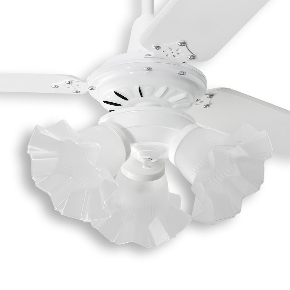 Ventilador de Teto Diamante Loren Sid Branco Pás Brancas M3