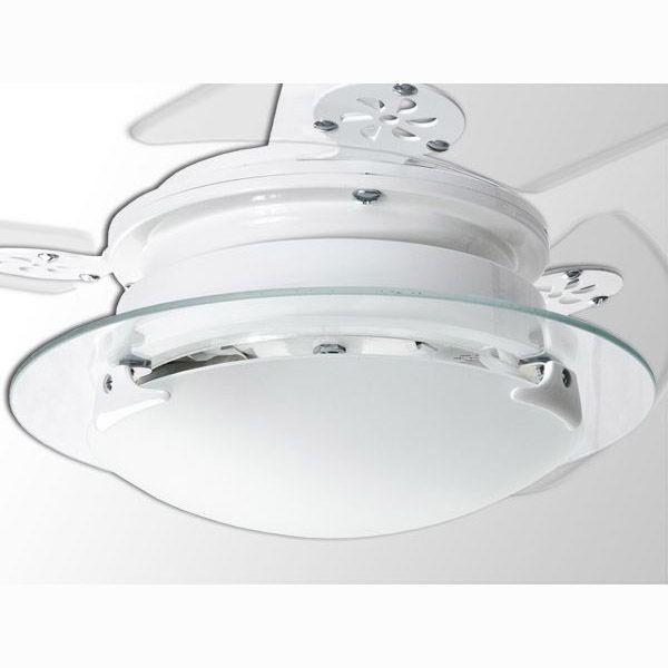 Ventilador de Teto Loren Sid Residence Branco Pás Transparentes