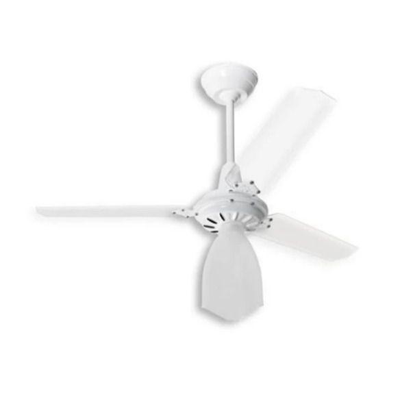 Ventilador de Teto Lumi Loren Sid Branco Pás Transparentes M3