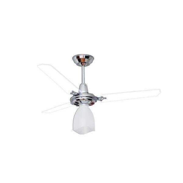 Ventilador de Teto Lumi Loren Sid Cromado Pás Transparentes M3