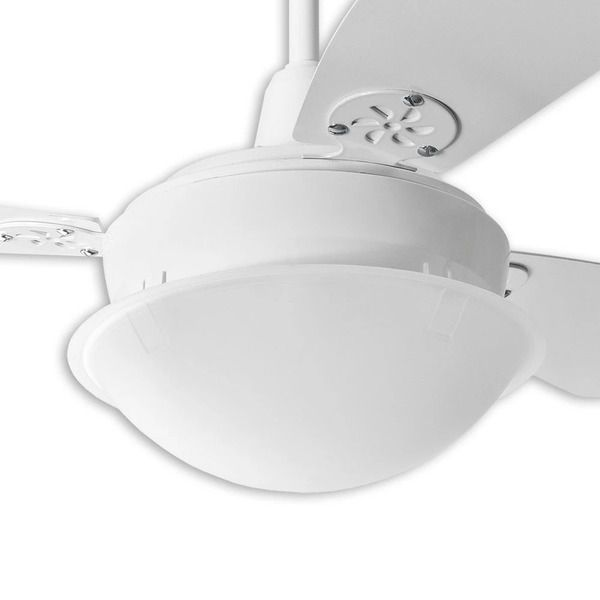 Ventilador de Teto Pérola Branco Loren Sid Com Controle Remoto