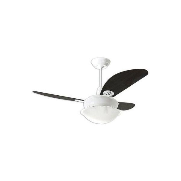 Ventilador de Teto Pérola Branco Loren Sid Pás Tabaco M2