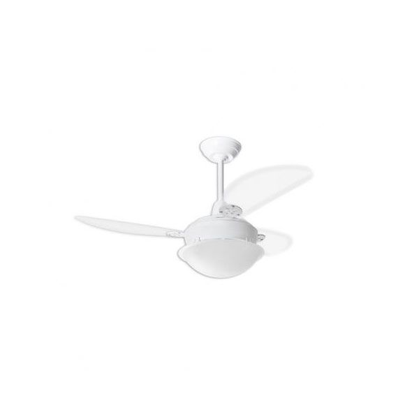 Ventilador de Teto Pérola Branco Loren Sid Pás Transparentes Com Controle Remoto