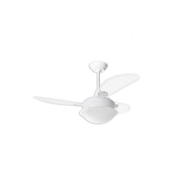 Ventilador de Teto Pérola Branco Loren Sid Pás Transparentes M2