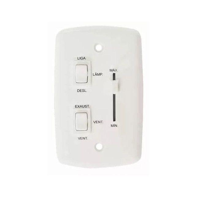 Ventilador De Teto Quartzo Branco Pás Transparente Loren Sid 127V