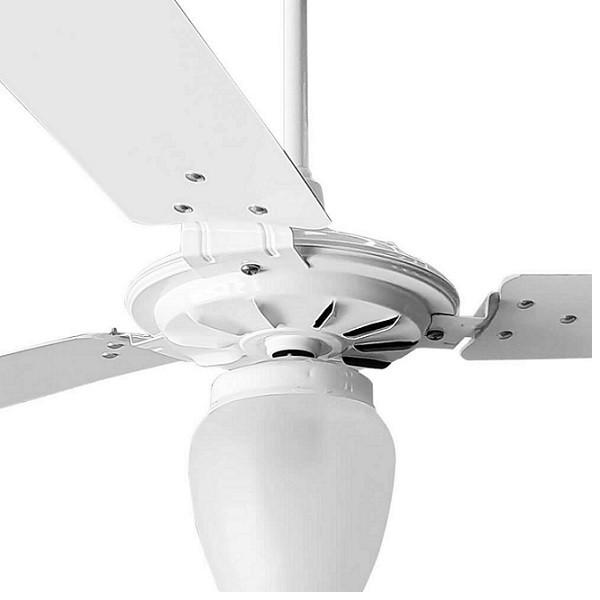 Ventilador de Teto com Controle Remoto Rico 150w e 180w Branco Pás Brancas Ventex