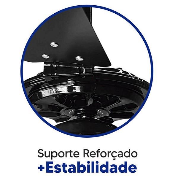 Ventilador de Teto Rico 150w e 180w Preto Pás Pretas Ventex