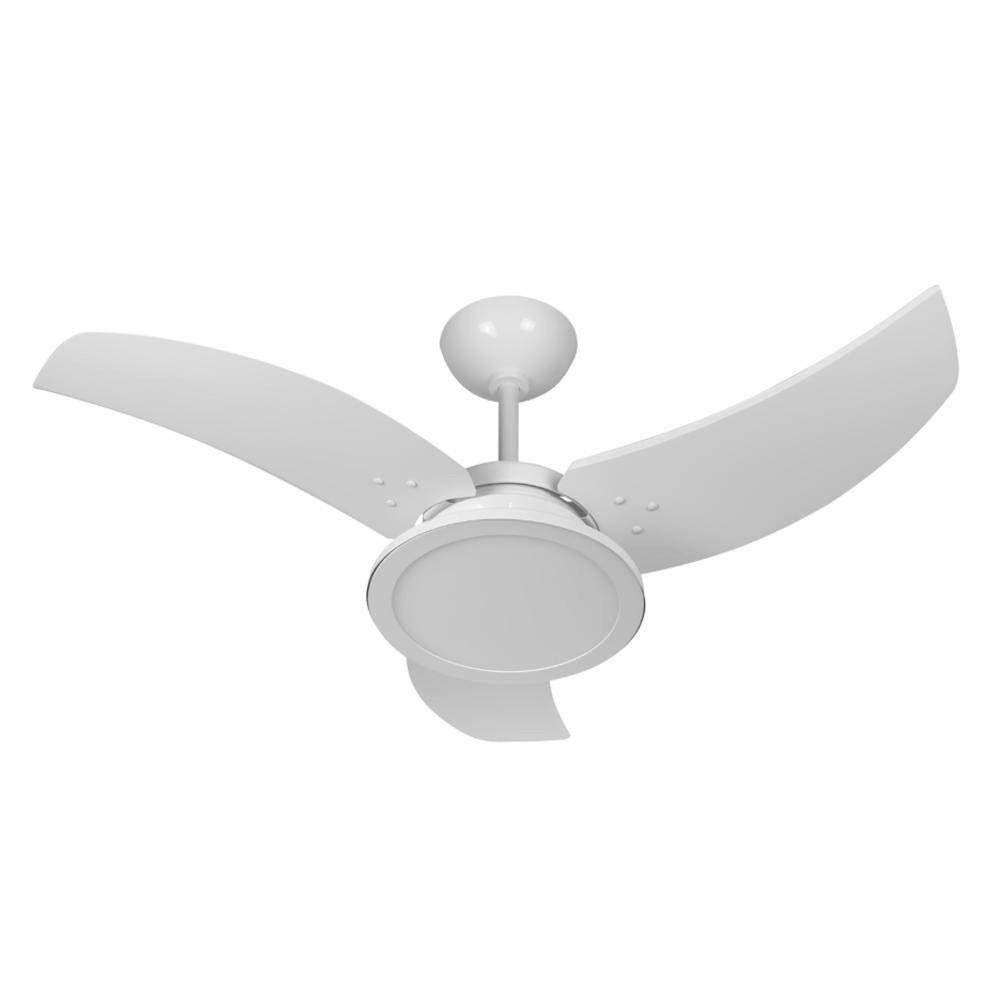 Ventilador de Teto Venom LED Branco 3 Pás Branco 127v - Tron