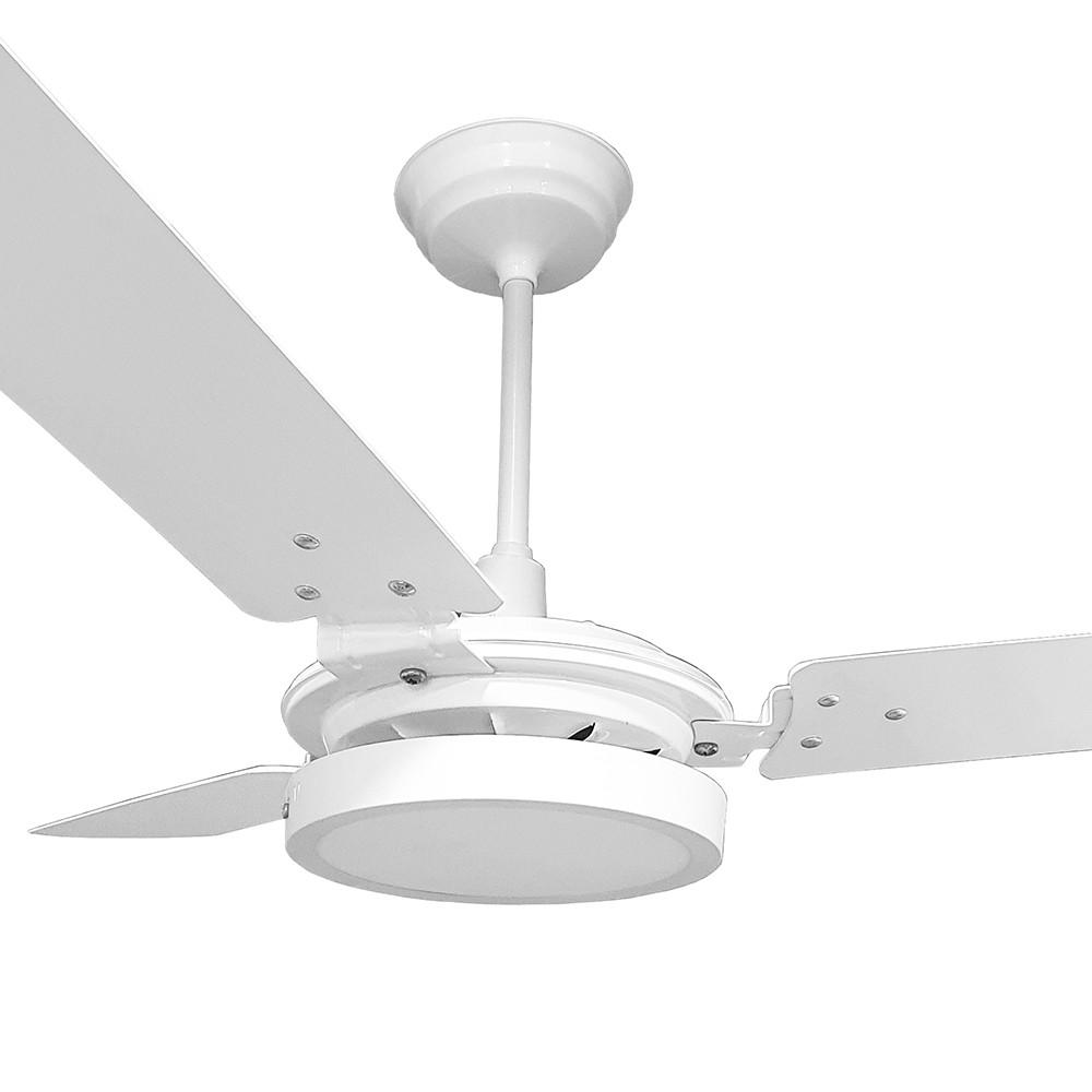 Ventilador de Teto Valen LED 18w Branco Pás Brancas Ventex