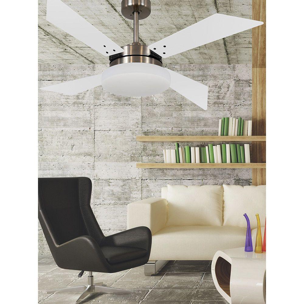 Ventilador de Teto Volare VD50 Tech Bronze 4 Pás Branco