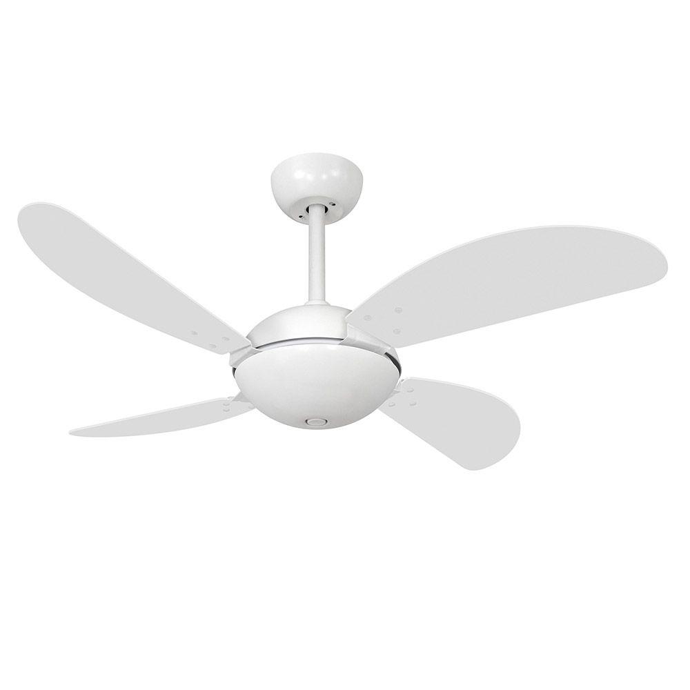 Ventilador de Teto Volare Branco Fosco Fly Office 4 Pás Branco