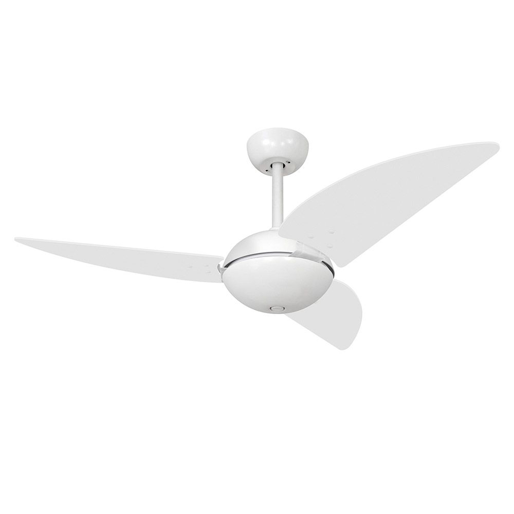 Ventilador de Teto Volare Branco Fosco Office Class 3 Pás Branco