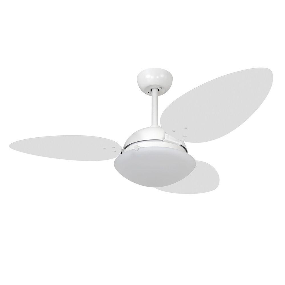 Ventilador de Teto Volare Branco Fosco Pétalo 3 Pás Branco