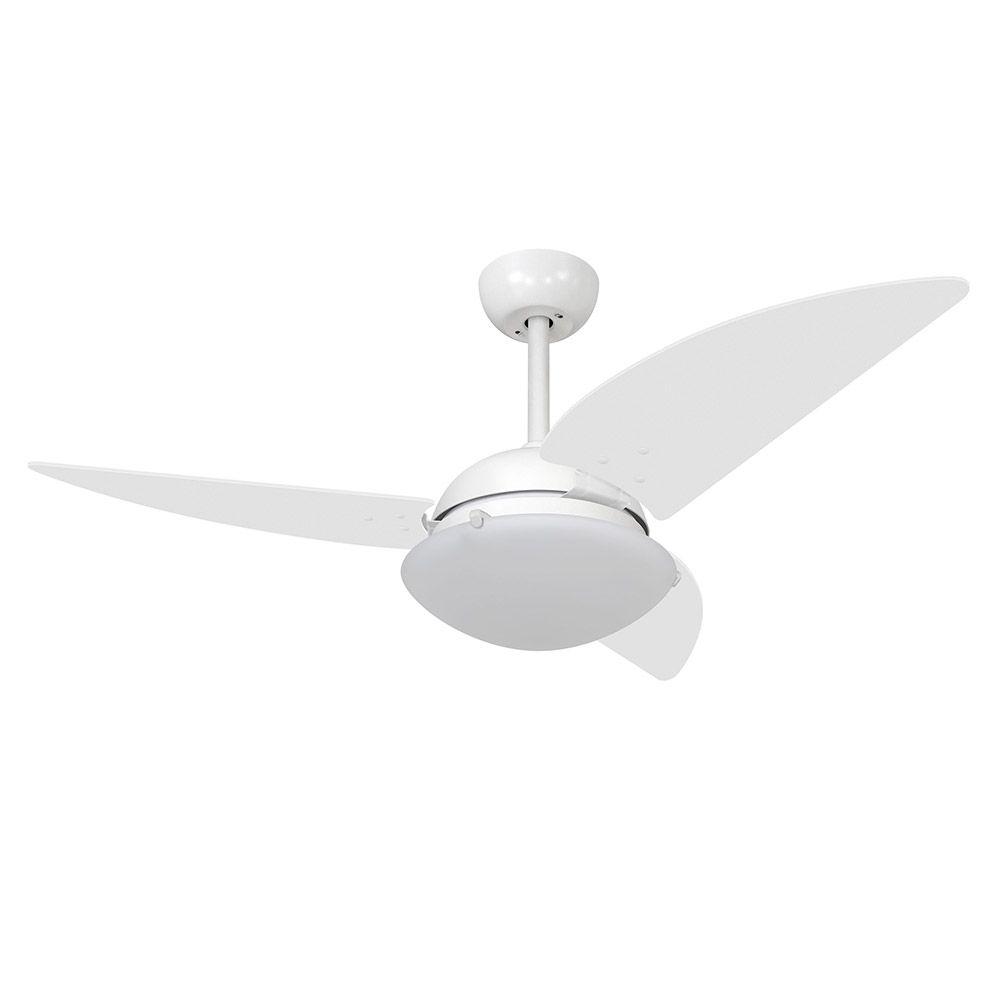 Ventilador de Teto Volare Branco Fosco VD300 Class 3 Pás Branco