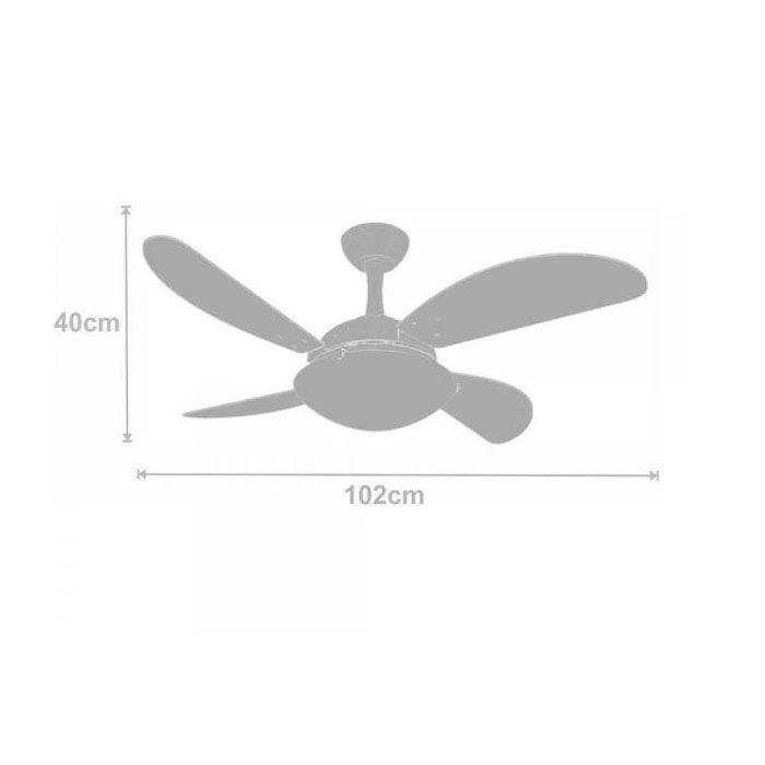 Ventilador de Teto Volare Ventax Uno Fly 4 Pás Branco