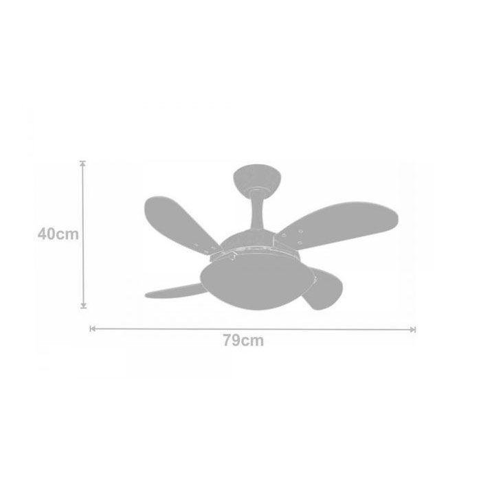 Ventilador de Teto Volare Ventax Uno Mini Fly 4 Pás Branco