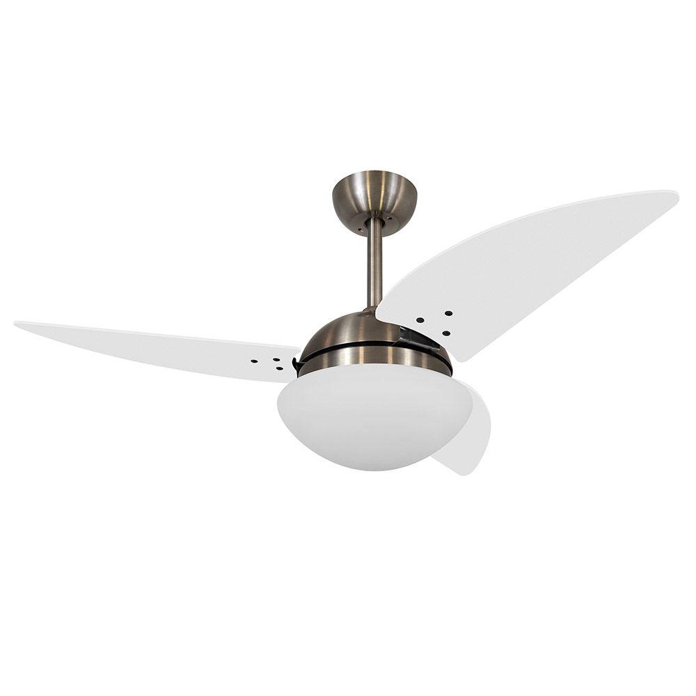 Ventilador de Teto Volare Bronze VD42 Class 3 Pás Branco