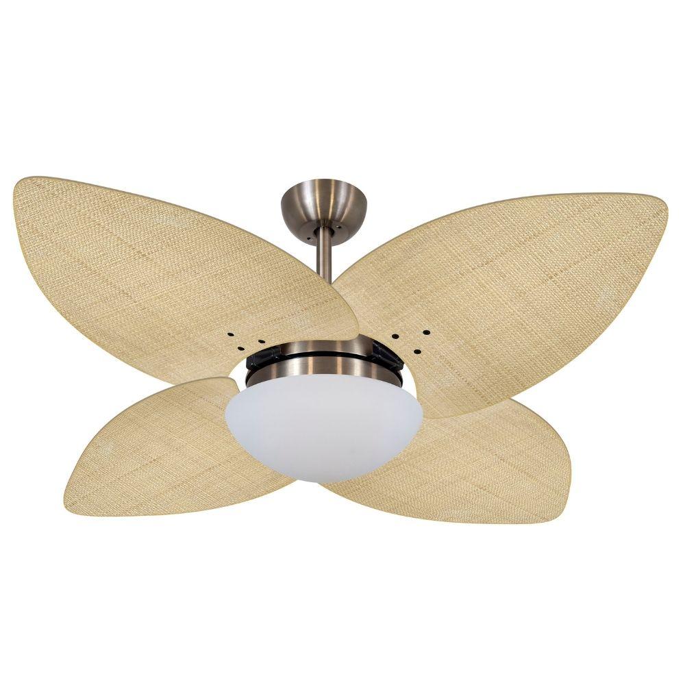 Ventilador de Teto Volare Bronze VD42 Dunamis Palmae 4 Pás Natural