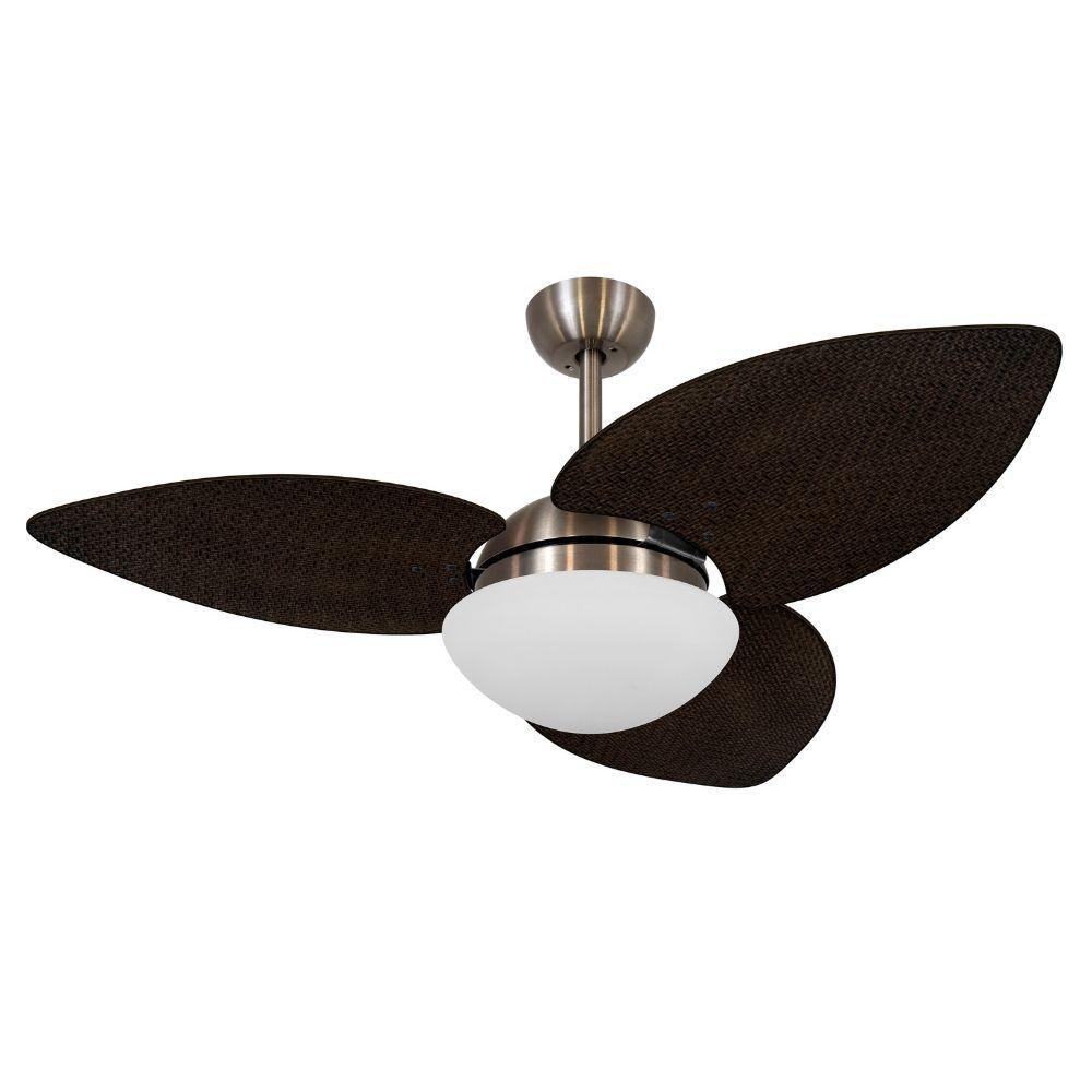 Ventilador de Teto Volare Bronze VD42 Dunamis S3 Palmae 3 Pás Tabaco