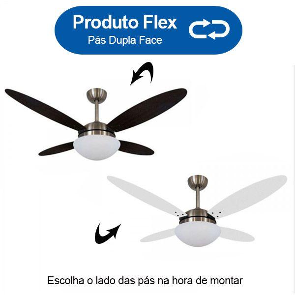 Ventilador de Teto Volare Bronze VD42 Lanai 4 Pás Branco ou Tabaco
