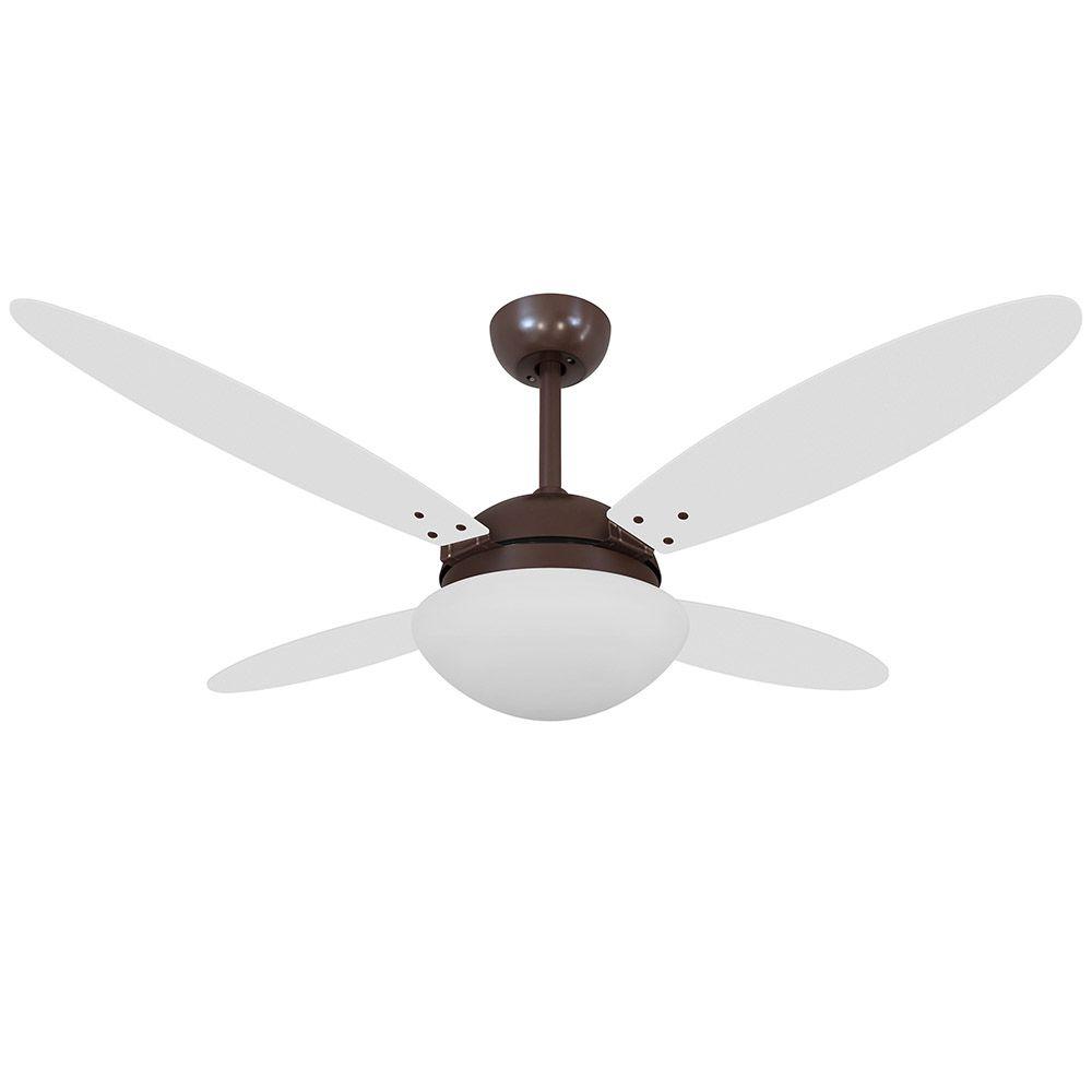 Ventilador de Teto Volare Café VD42 Lanai 4 Pás Branco ou Tabaco