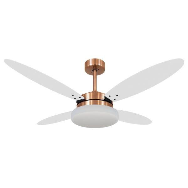Ventilador de Teto Volare Cobre VD50 Lanai 4 Pás Branco ou Tabaco