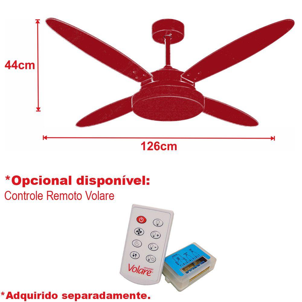 Ventilador de Teto Volare Cromo VD50 Lanai 4 Pás Branco ou Tabaco