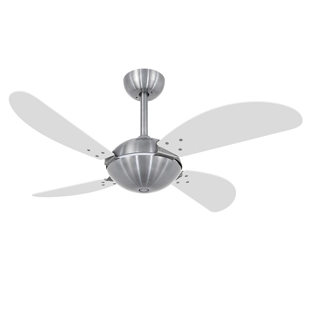 Ventilador de Teto Volare Escovado Fly Office 4 Pás Branco