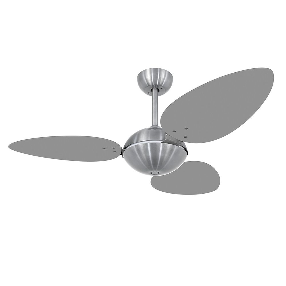 Ventilador de Teto Volare Escovado Office Pétalo 3 Pás Titânio