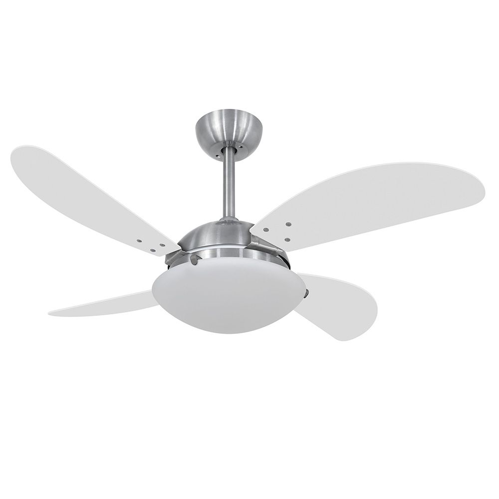 Ventilador de Teto Volare Escovado VD300 Fly 4 Pás Branco