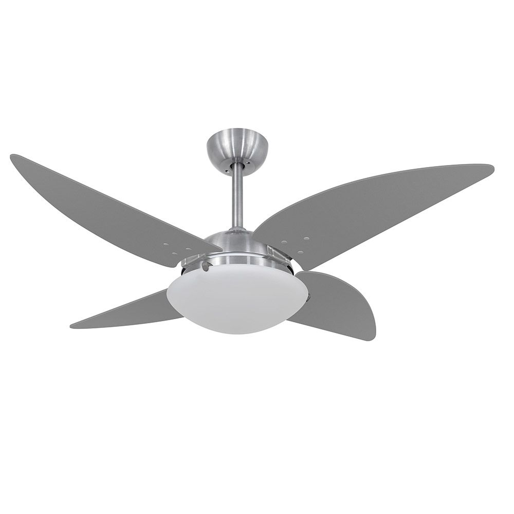 Ventilador de Teto Volare Escovado VD300 Quad 4 Pás Titânio