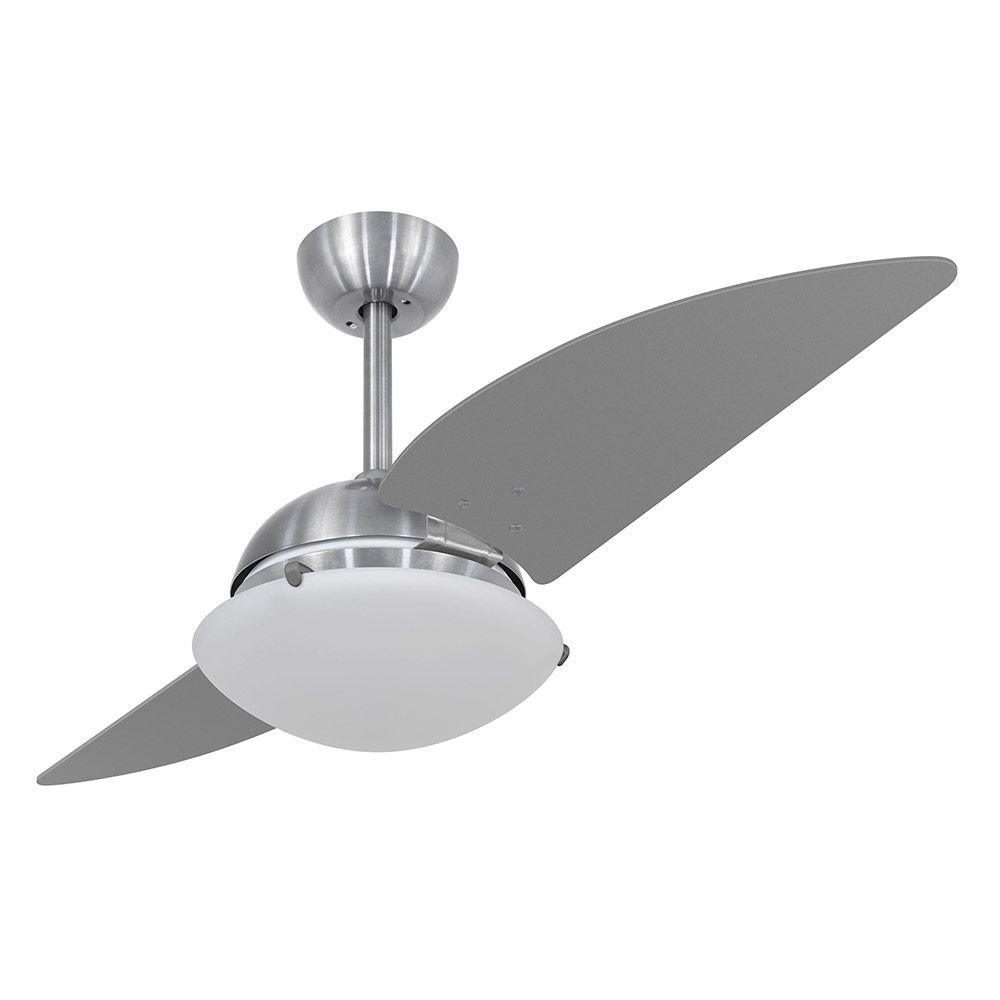 Ventilador de Teto Volare Escovado VD300 Turbo 2 Pás Titânio