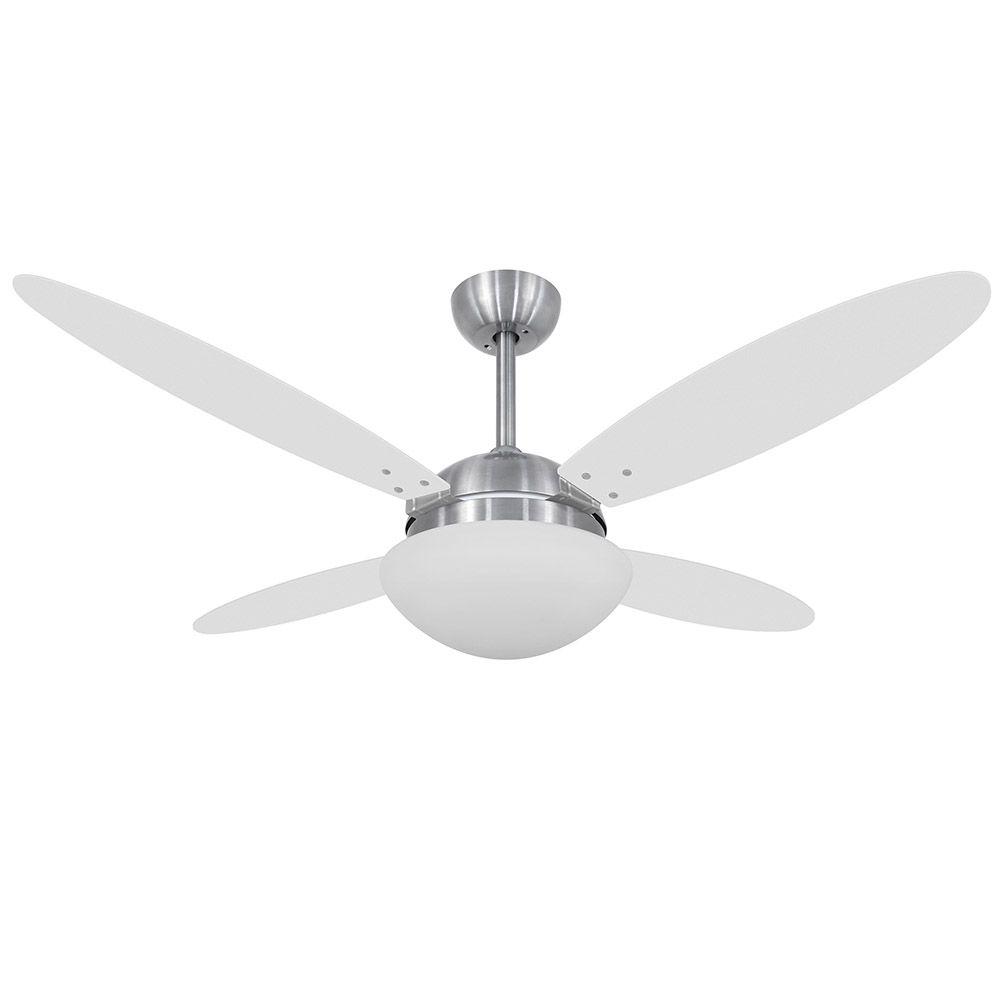 Ventilador de Teto Volare Escovado VD42 Lanai 4 Pás Branco ou Tabaco