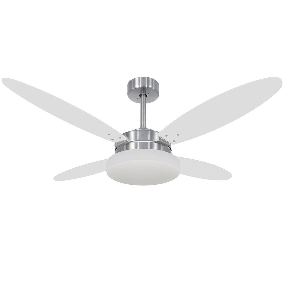 Ventilador de Teto Volare Escovado VD50 Lanai 4 Pás Branco ou Tabaco
