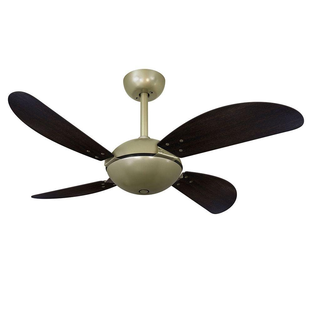 Ventilador de Teto Volare Gold Fly Office 4 Pás Tabaco