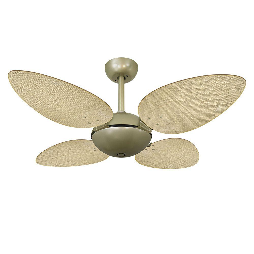 Ventilador de Teto Volare Gold Office Pétalo Palmae 4 Pás Natural