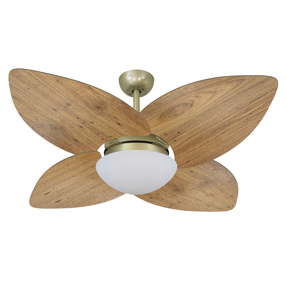 Ventilador de Teto Volare Gold VD42 Dunamis Rádica 4 Pás Freijó