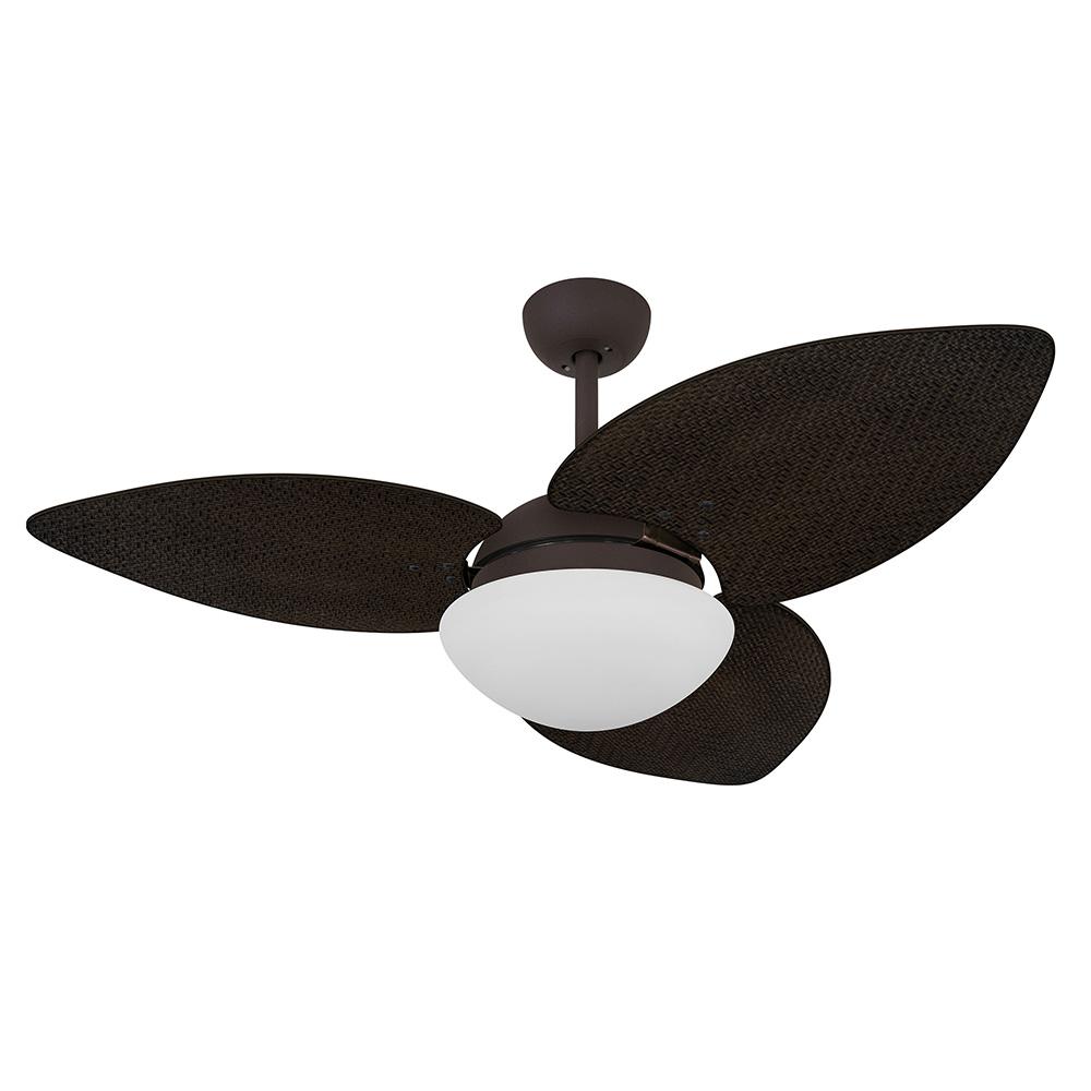 Ventilador de Teto Volare Marrom Texturizado VD42 Dunamis S3 Palmae 3 Pás Tabaco