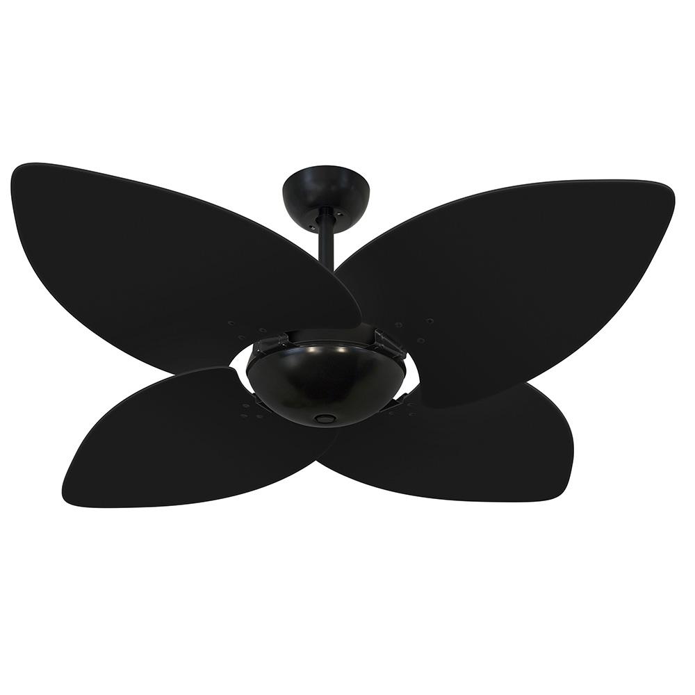 Ventilador de Teto Volare Nero Office Preto Dunamis 4 Pás Preto
