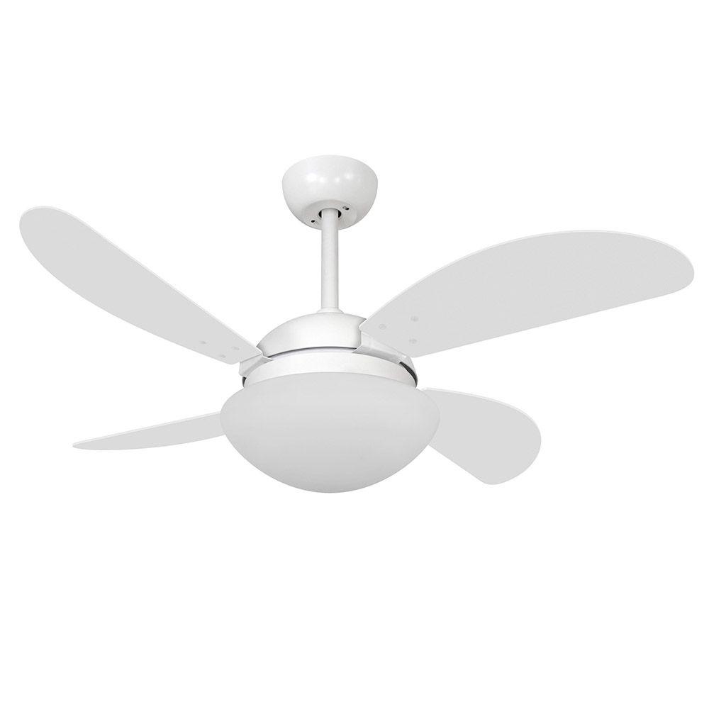 Ventilador de Teto Volare Branco Fosco VD42 Fly 4 Pás Branco