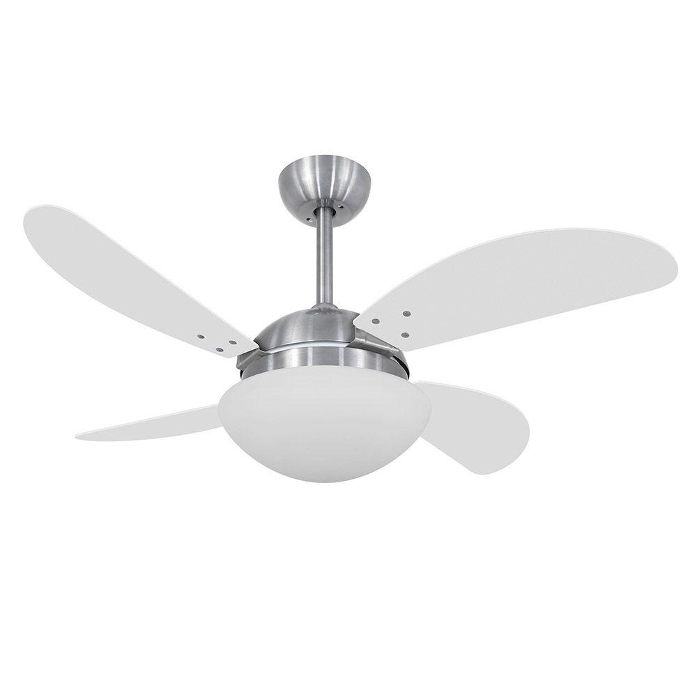 Ventilador de Teto Volare Escovado VD42 Fly 4 Pás Branco