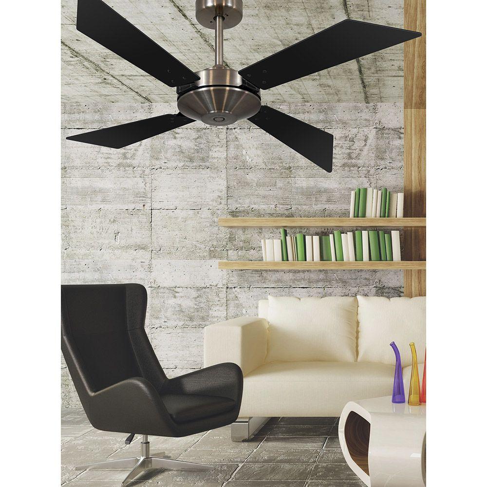 Ventilador de Teto Volare Tech Bronze New Office  4 Pás Preto