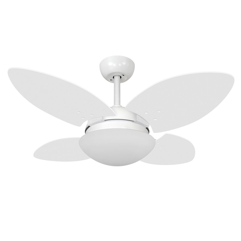 Ventilador de Teto Volare VD28 Mini Branco Fosco Pétalo 4 Pás Branco