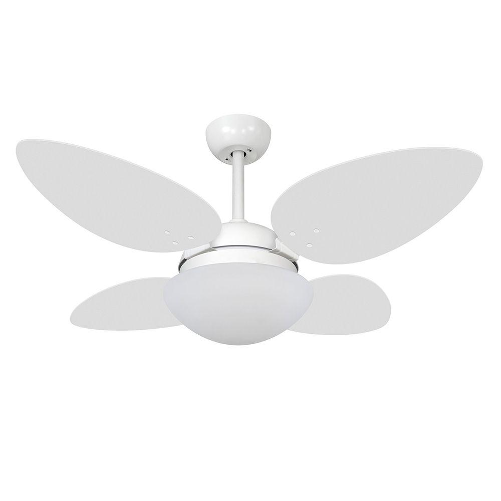 Ventilador de Teto Volare Braco Fosco VD42 Pétalo 4 Pás Branco