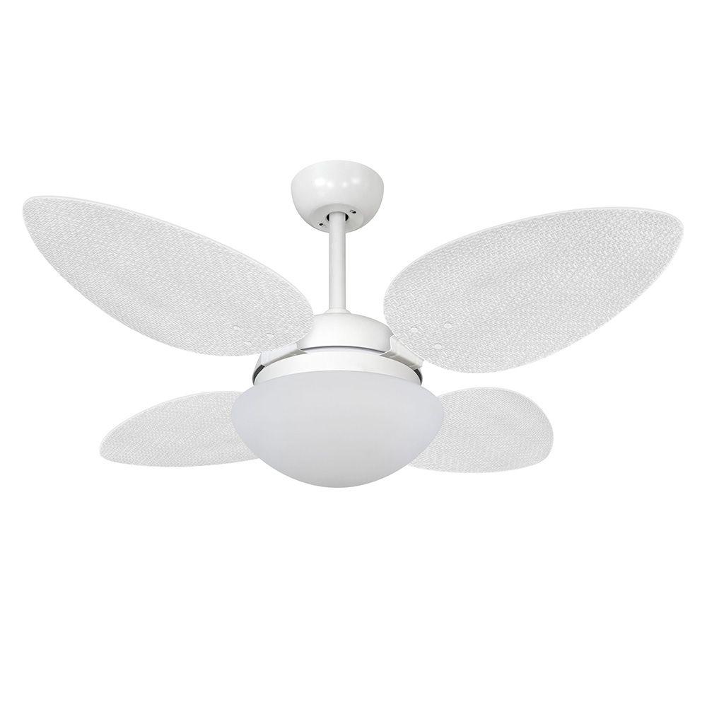Ventilador de Teto Volare Branco Fosco VD42 Pétalo Palmae 4 Pás Branco