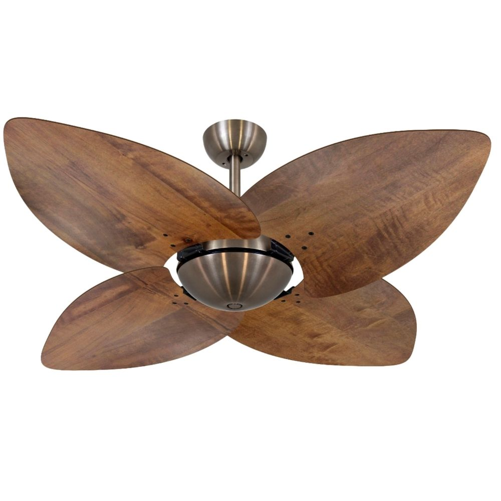 Ventilador de Teto Volare VD42 Bronze Dunamis Rádica 4 Pás Imbuia