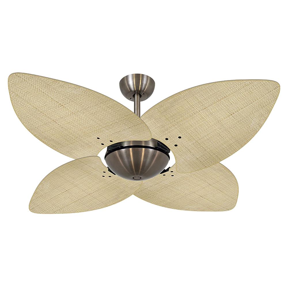 Ventilador de Teto Volare VD42 Bronze Office Dunamis Palmae 4 Pás Natural